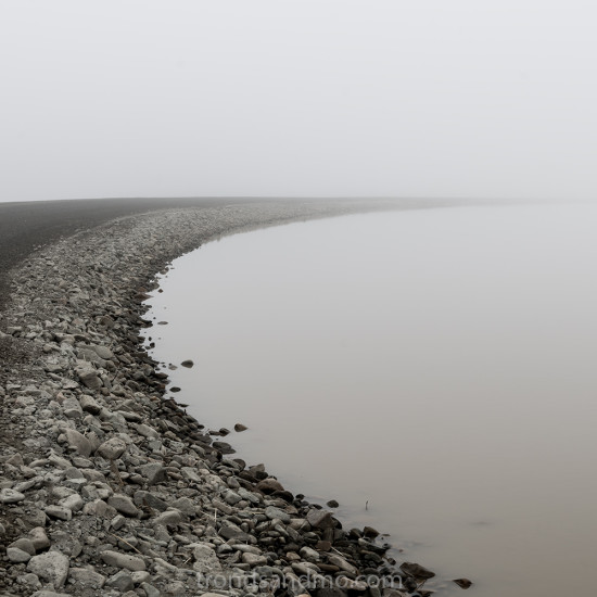 the dam in fog