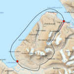 Map Longyearbyen - Coles Bay