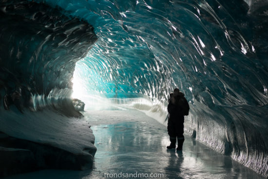 Man in Icecave