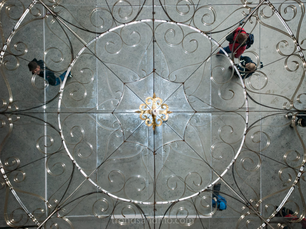 Ceiling mirror at Pyramiden