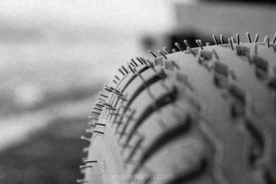 Frosty tire