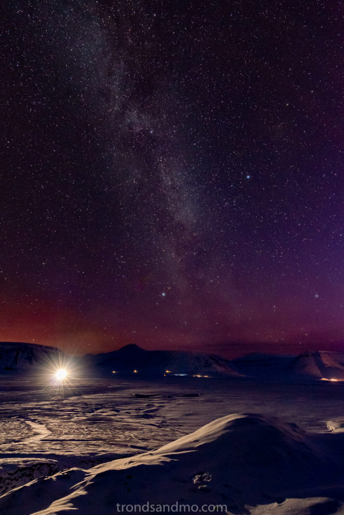 Milky Way over Adventdalen